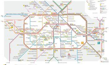 Карта метро и электричек города Берлина
